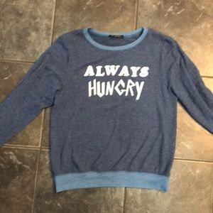 NWOT Wildfox Always Hungry pullover Size M